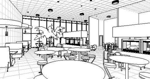 Cafe booth elevations joy studio design gallery best Michigan state university interior design