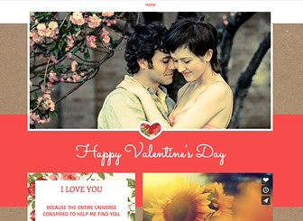 Be My Valentine Template - Let a dear one know how much you love them with this romantic and touching one-page Valentine's Day template. Great for any romantic occasion, simply customize this sentimental template by personalizing the text with your favorite romantic quote or a video which means a lot to your dear one. Simply click