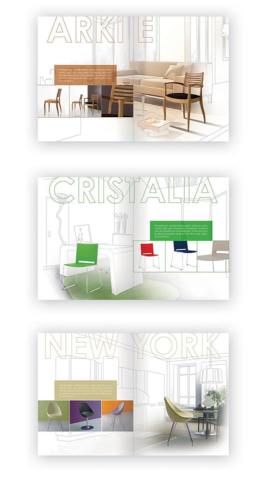 Catalogue of design chairs - draft
