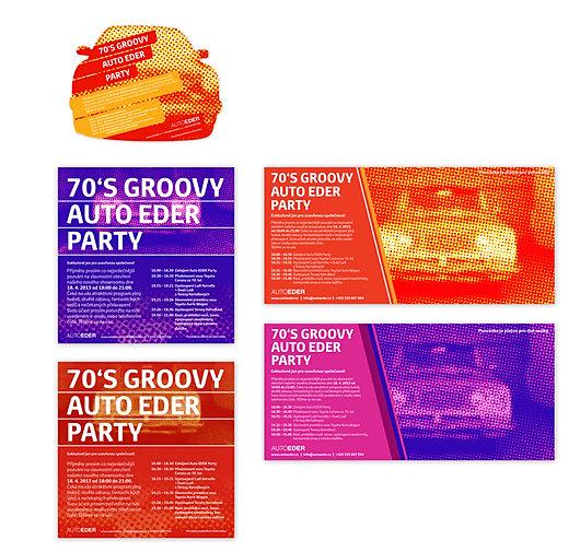 Toyota party invitation for showroom