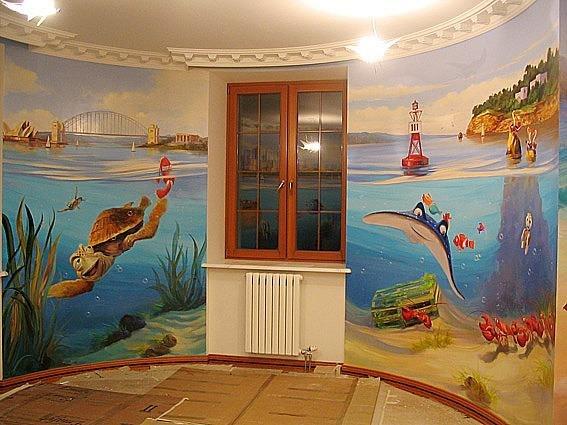 Роспись детских комнат фото