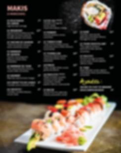 Menu sushis