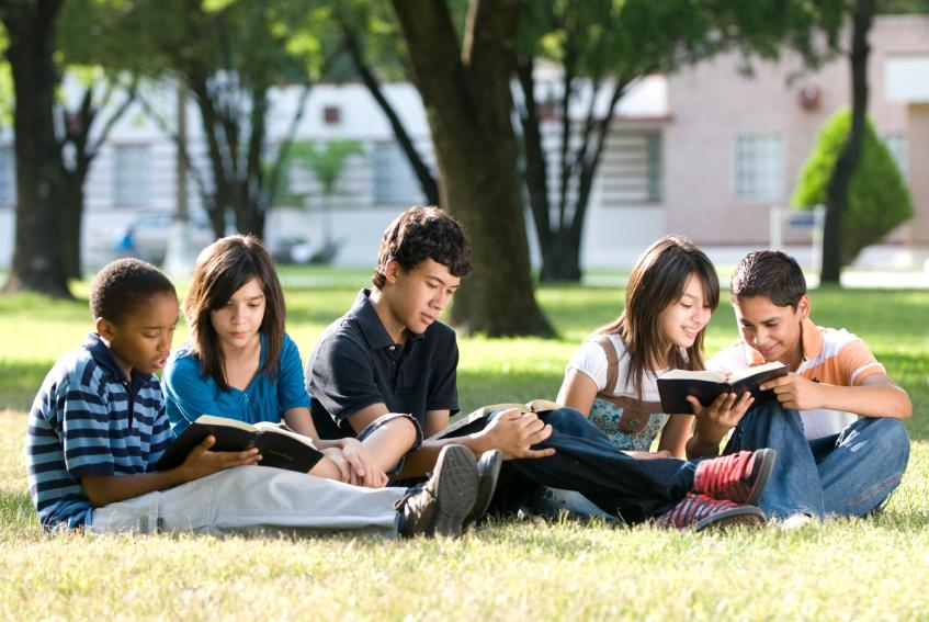 Image result for teenagers reading in the summer