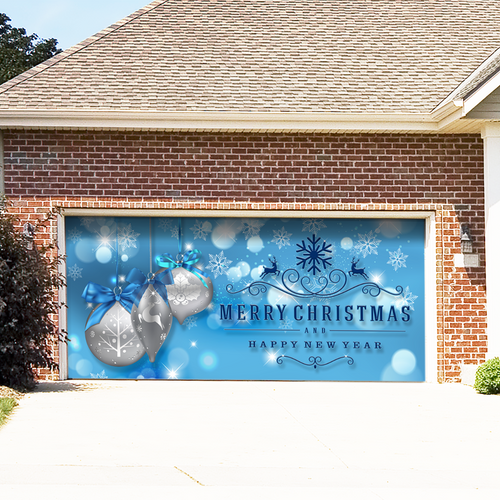 Mydoordecor christmas garage door decor for Christmas garage door mural
