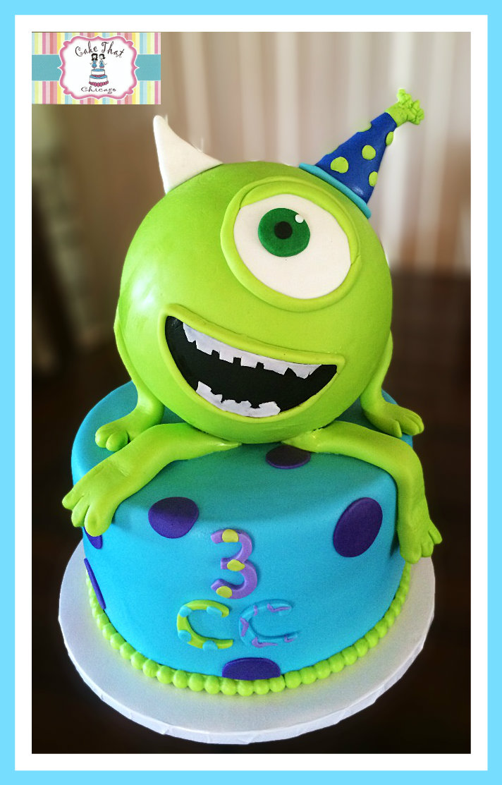 cakes birthday cakes baby shower cake cake 1 tier monsters inc