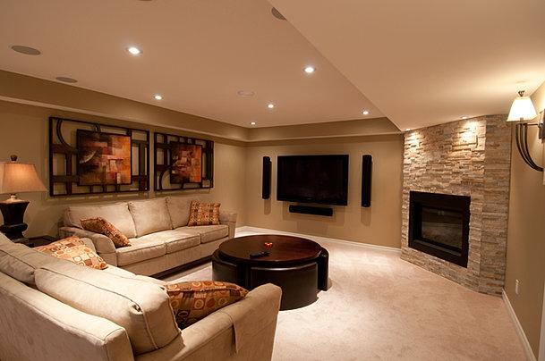 stonebridge basement family room - Basement Designer