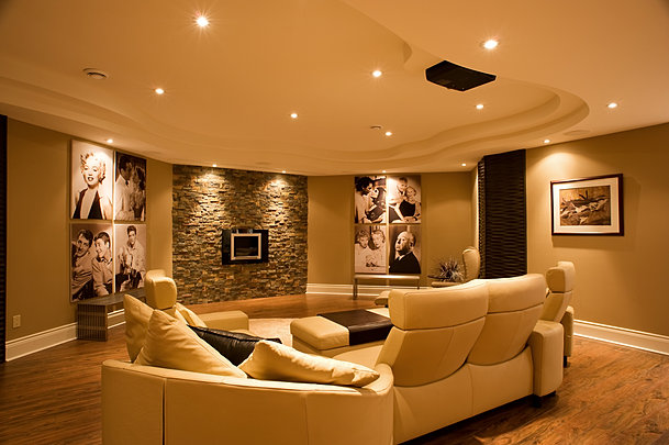 Manotick Basement   Family Room