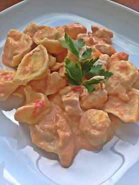 Тортеллини с ветчиной в сливочном соусе рецепт – итальянская