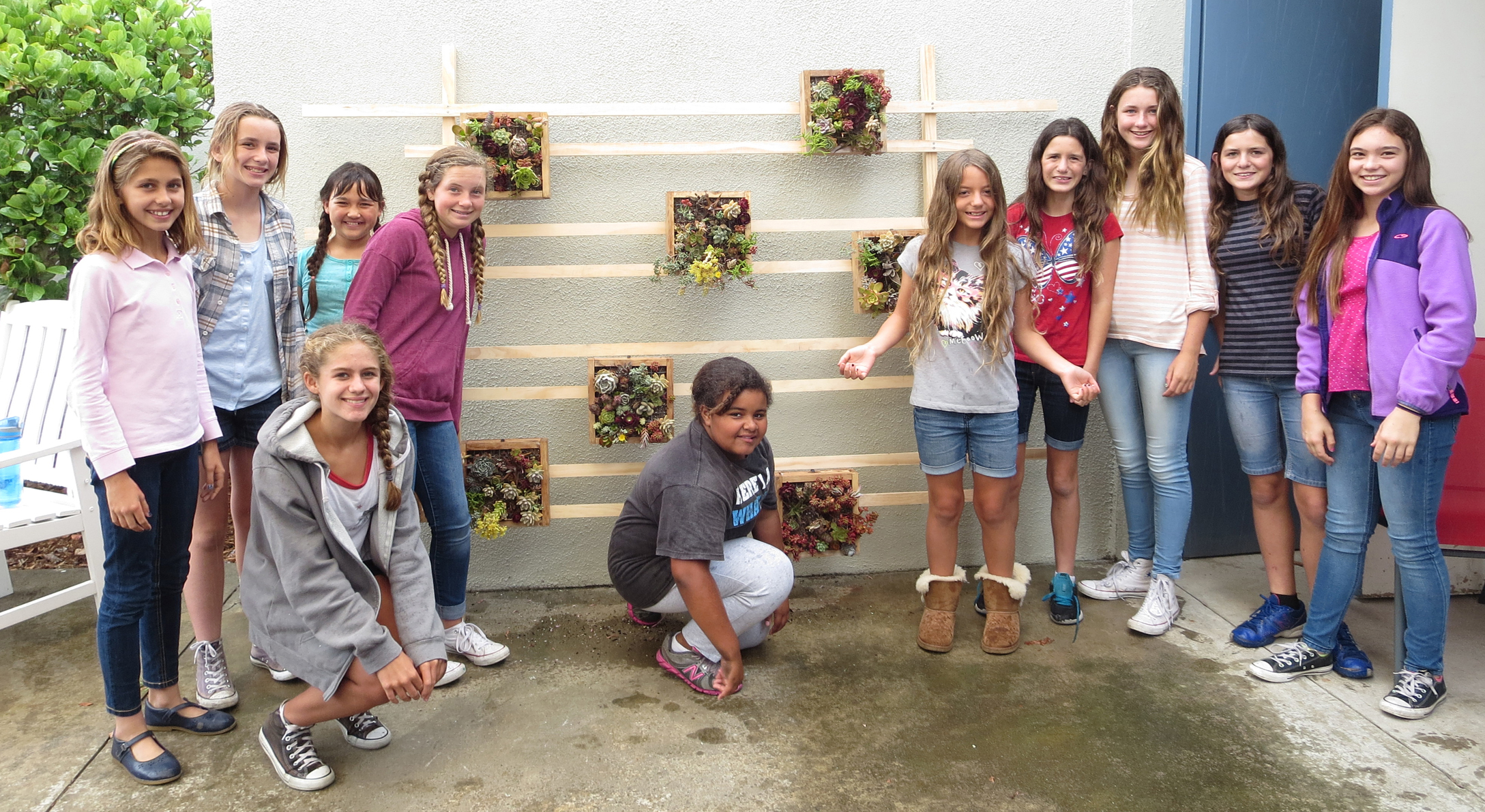 worksheet 6 Grade 6th grade girl scouts honor muirlands teachers and staff with middle school 6 th girls scout troop 3095 installing the living wall in outdoor patio of lounge l