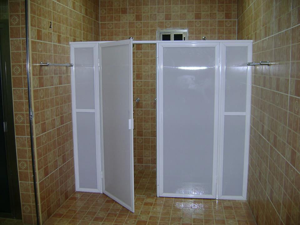 Vidrio aluminio cristales cancel para ba o abatible for Canceles para banos muy pequenos