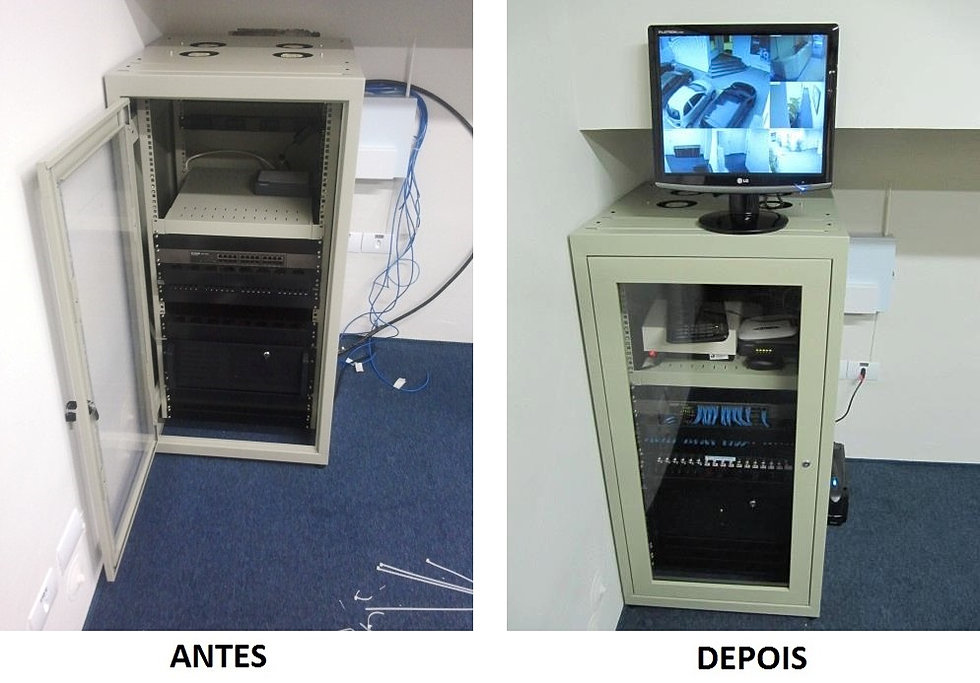 Instalação Rack CFTV 24U