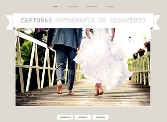Fotógrafo de Casamento Template - Com fontes clássicas e design elegante, este template é perfeito para fotógrafos de casamento e noivado. Personalize as galerias para mostrar o seu estilo criativo e adicione texto para promover seus pacotes de serviços e preços.