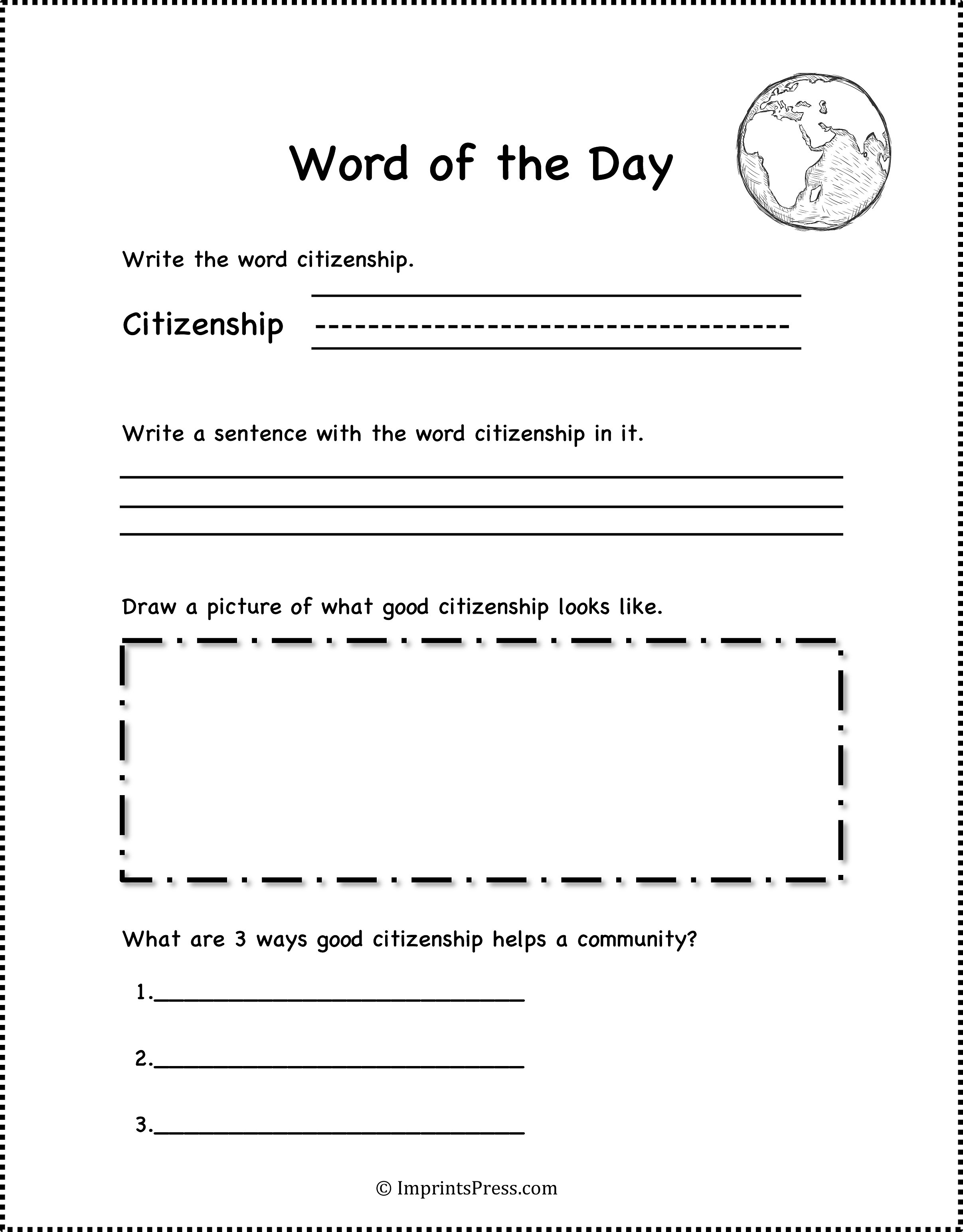 Free Worksheet Citizenship Worksheets imprints press definition of citizenship common core worksheets get