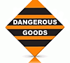 orange and black dangerous goods label label makers australia