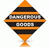 orange and black dangerous goods label label makers australia