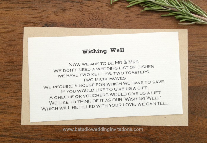 Tying The Knot Wishing Well Card