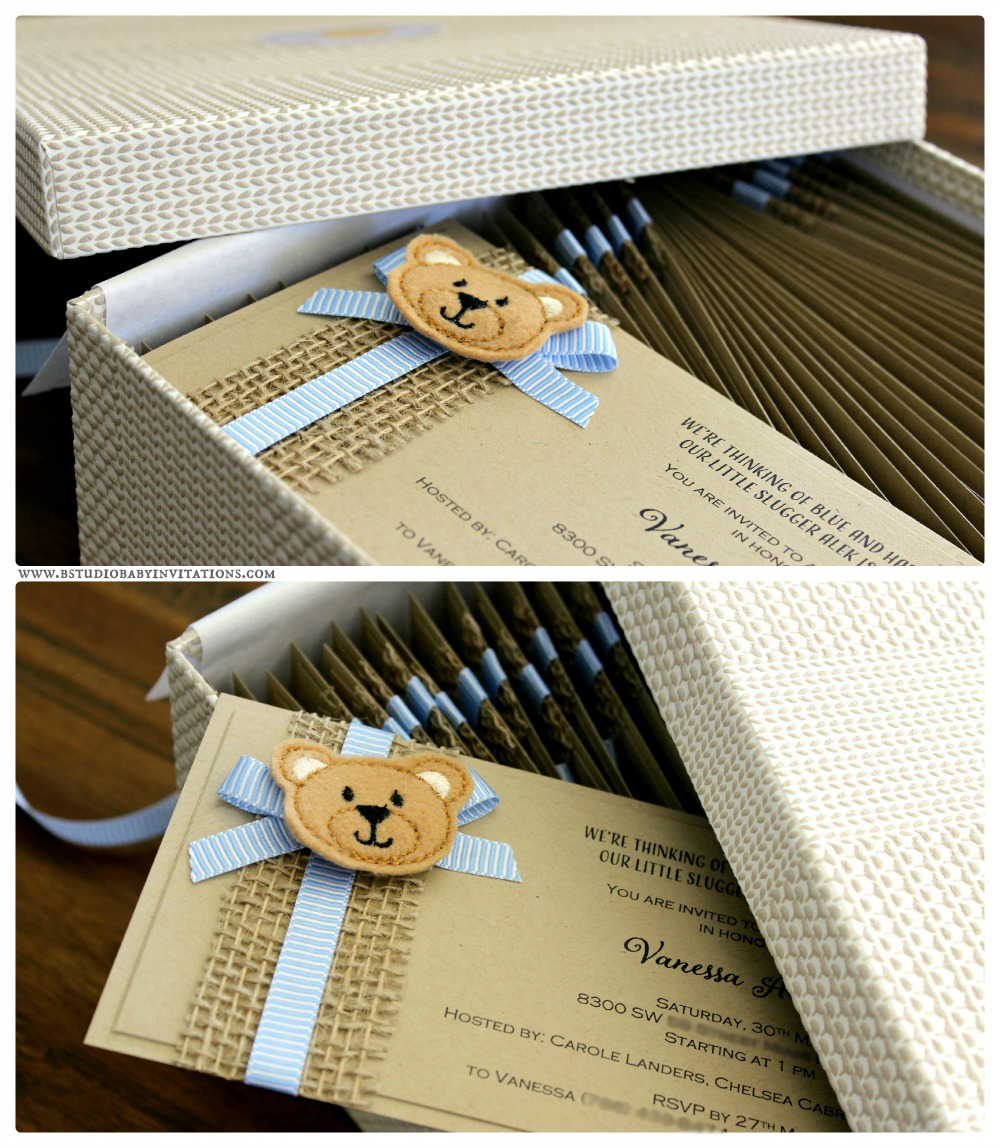 Order of the week} Custom teddy bear baby shower invitations | B ...