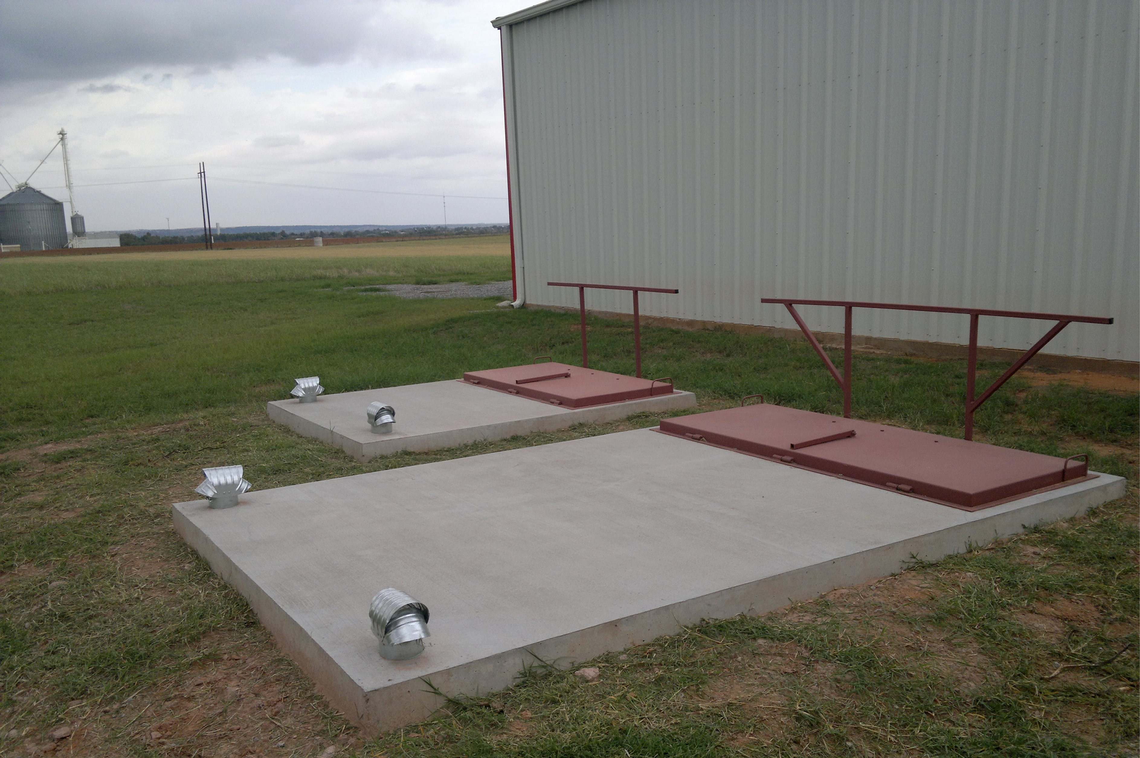 Metal Tank Shelters : Carnegie pre cast in ground oklahoma storm shelters and