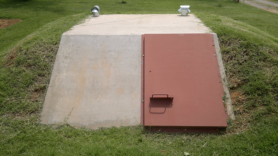 Metal Storm Shelters : Carnegie pre cast in ground oklahoma storm shelters and