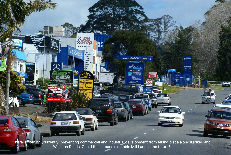 do we want kerikeri and waipapa roads to resemble mill lane in the future vision kerikeri