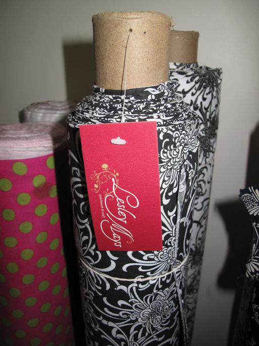 Many bolts of fabric