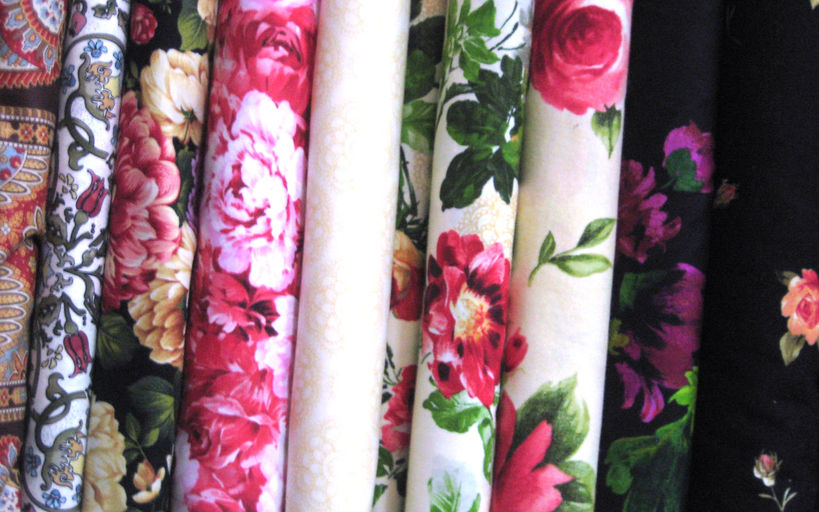 More floral fabric