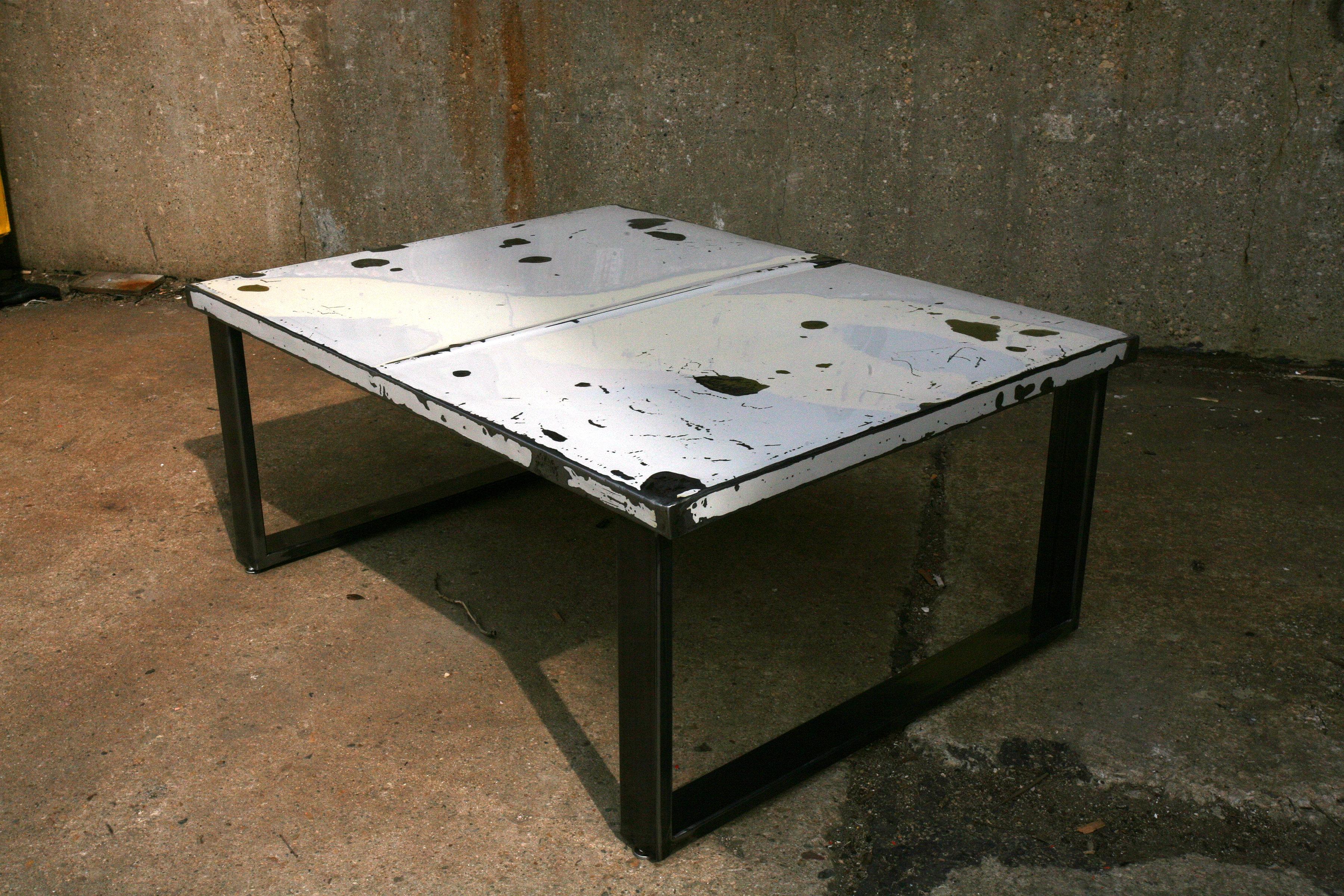 Metal Magic Interiors Car Hood Coffee Table