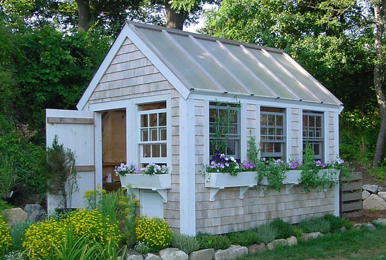 Garden Sheds With Greenhouse