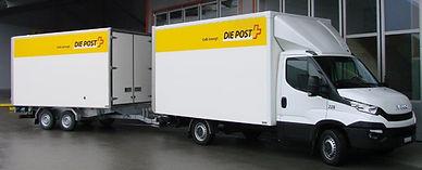 Post Anhängerzug Durchladesystem Kläsi Fahrzeugbau AG