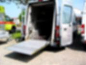 Innenausbau Kastenwagen Hebebühne Kläsi FahrzeugbauAG