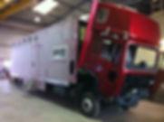 Pferdetransporter LKW Sanierung Lackierung Schaden Reparatur Kläsi Fahrzeugbau AG Amriswil Ostschweiz Thurgau