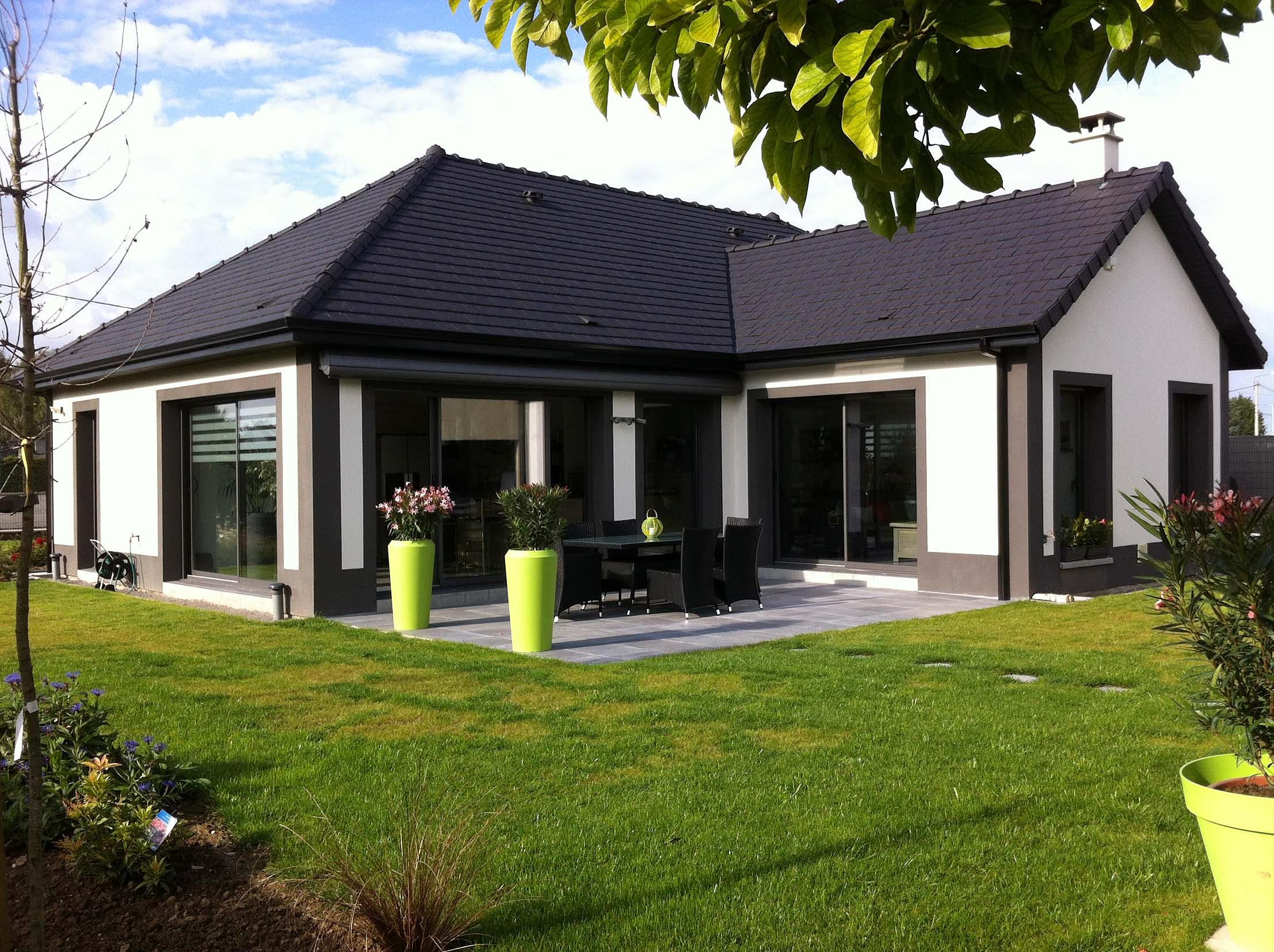 gitec constructions constructeur de maisons individuelles arras plain pied contemporain. Black Bedroom Furniture Sets. Home Design Ideas