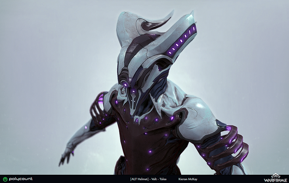 Kieran McKay CG Artist | Polycount/Warframe Warframe Volt Helmet