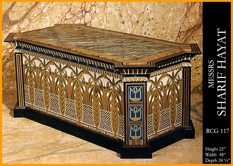 Egyptian Sarcophagus Design Coffee Table