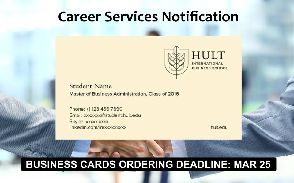 Hult student business cards | home