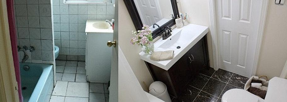 Ванной комнаты после ремонта
