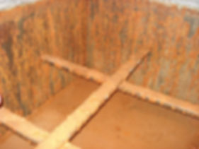 Cold Water Storage Tank with Heavy Corrosion