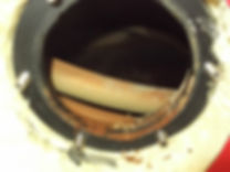 Calorifier (Water Heater) Internal before Descale