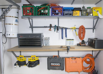 monkey bars workbench and storage