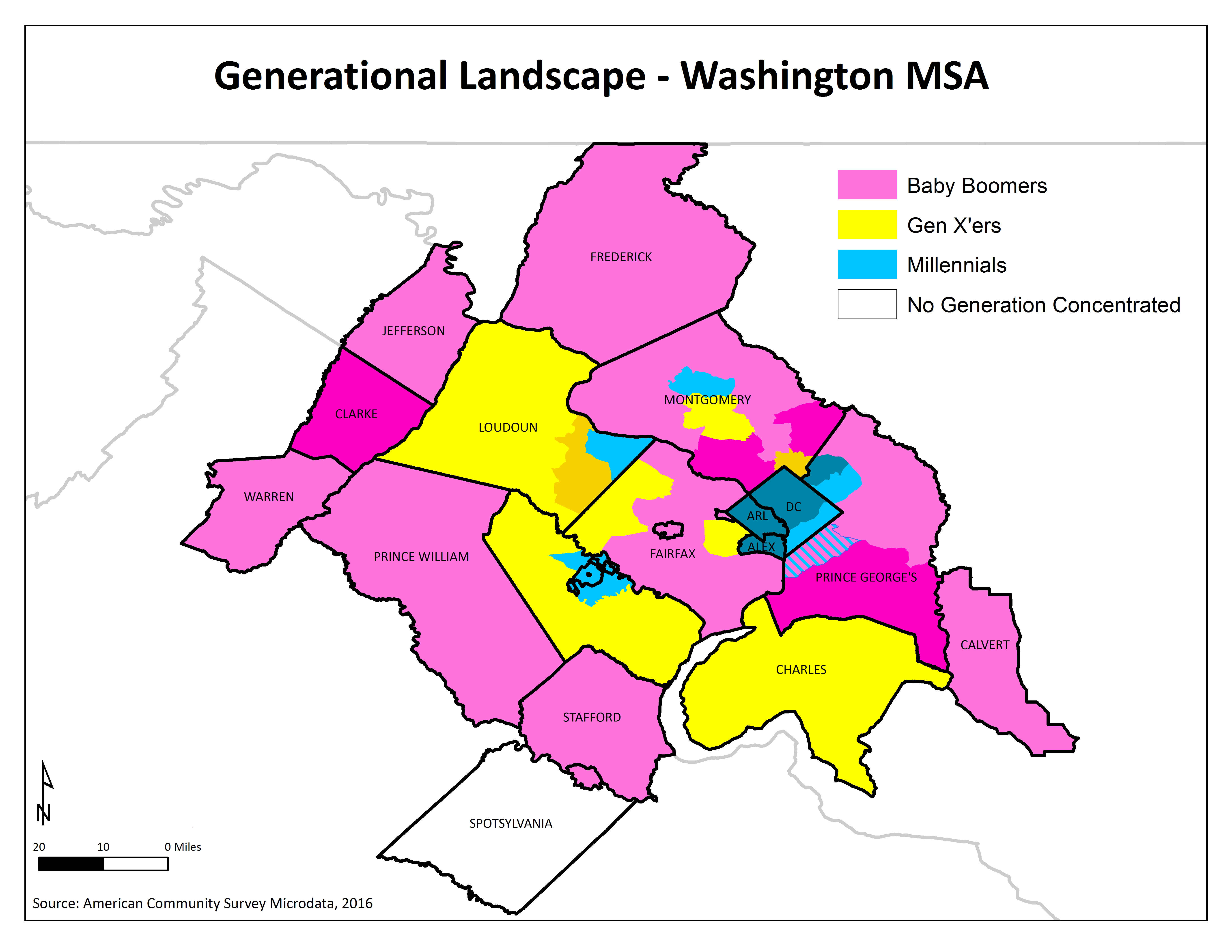 Where We Live: Millennials, Gen X'ers and Boomers in the DC Area