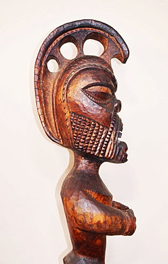 A carving by the owner of the Ka'u Outpost, entirely carved from Ohia.