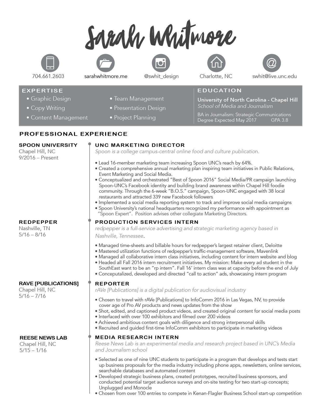 home marketing advertising student resume