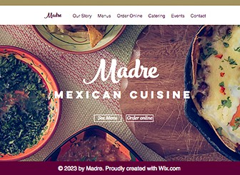 Mexican Restaurant Template - Fusing modern with traditional, this warm and homely template is perfect for any family restaurant. Tempt customers to your restaurant by customizing the menu and uploading photos of all your delicious dishes. Start editing the text and images now to create an impressive website and establish your online presence!