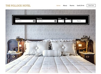 Retro-Hotel Template - Get rooms booked up with this classy hotel website template. With ample space to promote your hotel's rooms, restaurant and amenities, this is the perfect template for urban hotels with a lot to offer. Manage your hotel bookings with ease using the Wix booking App, where you can customize room details and much more. Start editing now to bring your hotel online and watch your business grow.