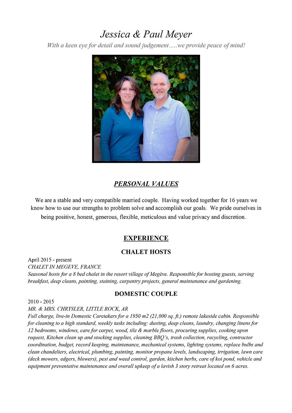 property caretaker couple cv resumes cv resume