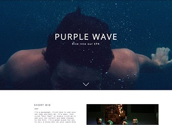 Epk band website template wix for Band epk template