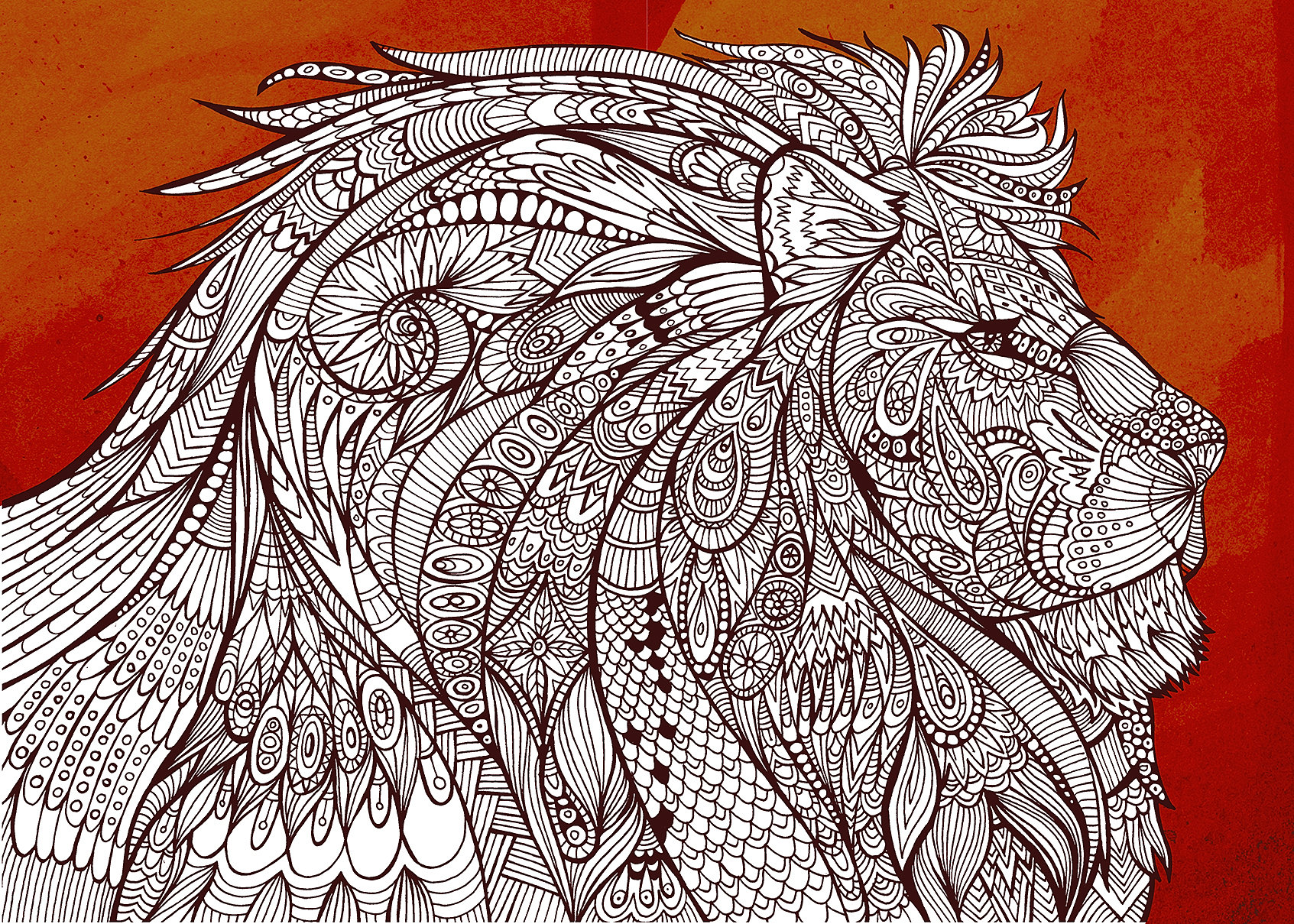 Art Therapy Coloring Book Richard Merritt : richard merritt Lion