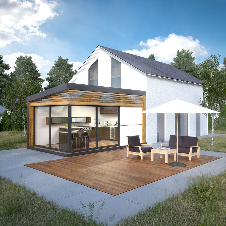 Un studio en bois dans son jardin une solution anti crise alpes home - Construction studio dans jardin ...