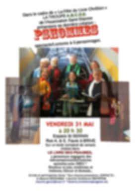 Lecture-spectacle PSHOMMES 31 mai 2019 fête du livre chrétien