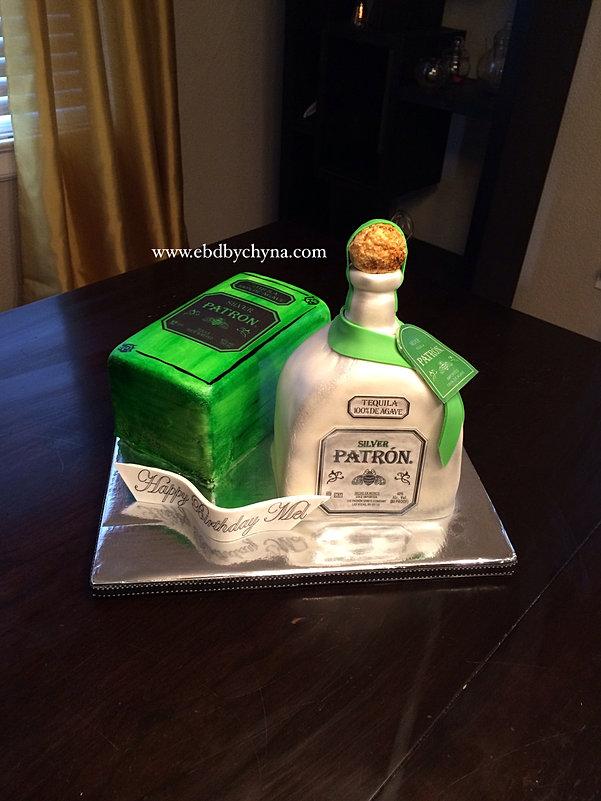 Cake By Chyna Custom Cakes NJ And NY - Patron birthday cake